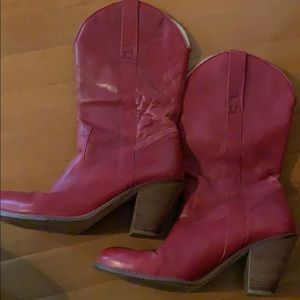 Jessica Simpson red cowboy boots